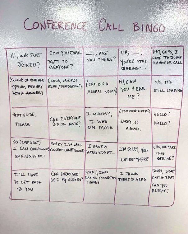 Conference Call Bingo, Anyone?