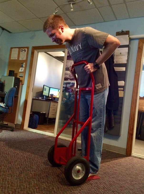 """I Heard A Coworker Say, """"This Segway Is Terrible."""" I Turned Around And Found Him Like This"""