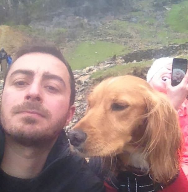 My Friend Climbed A Mountain And Took A Selfie, Was Photo Bombed By Girlfriend Taking Selfie