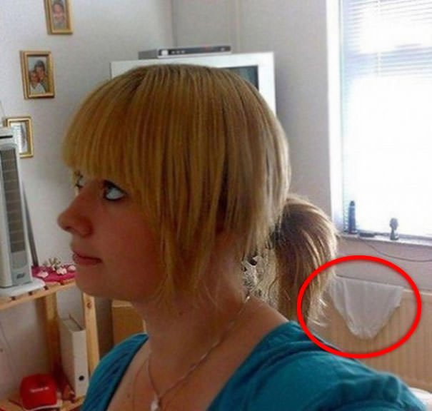 Selfie Background Fail