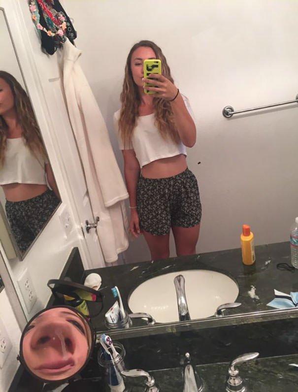 Mirror Selfie. Look Closely