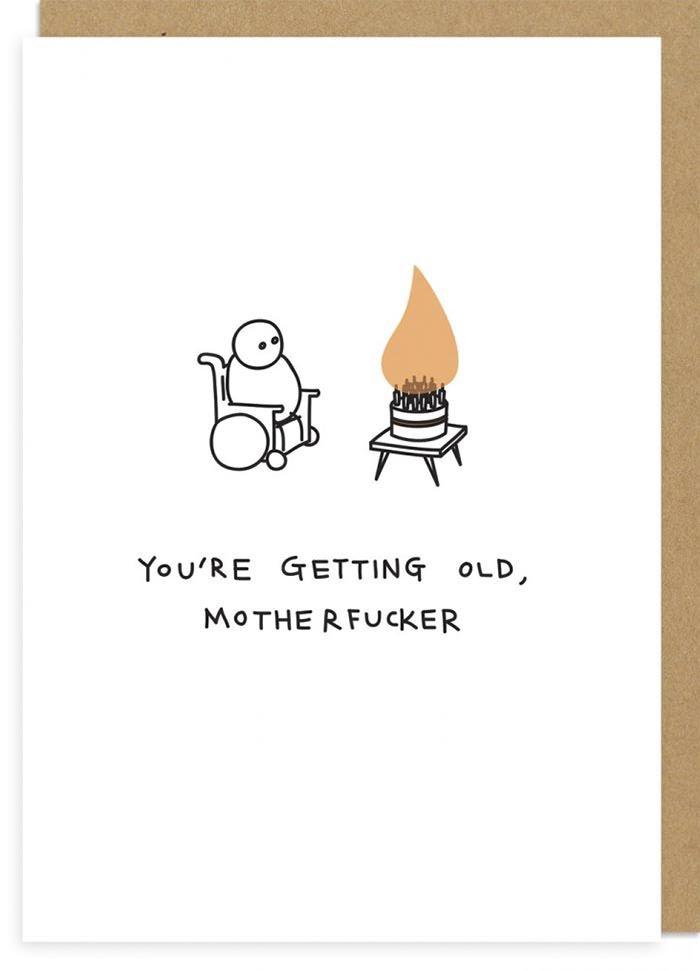 Demotivating rude greeting cards