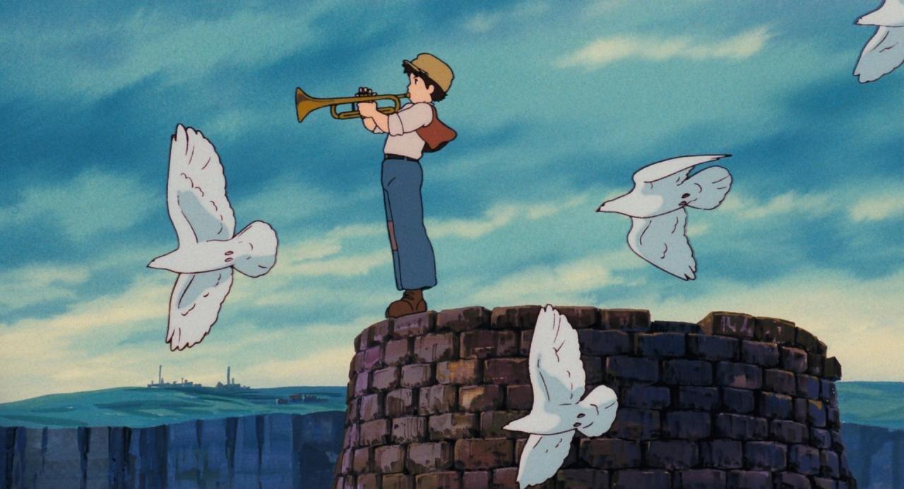 「ハトと少年 天空の城ラピュタ」の画像検索結果
