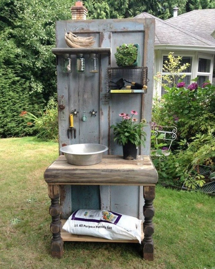 15 Ways To Use Old Doors In Your Garden Small Joys