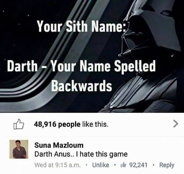 Star Wars Disappointment