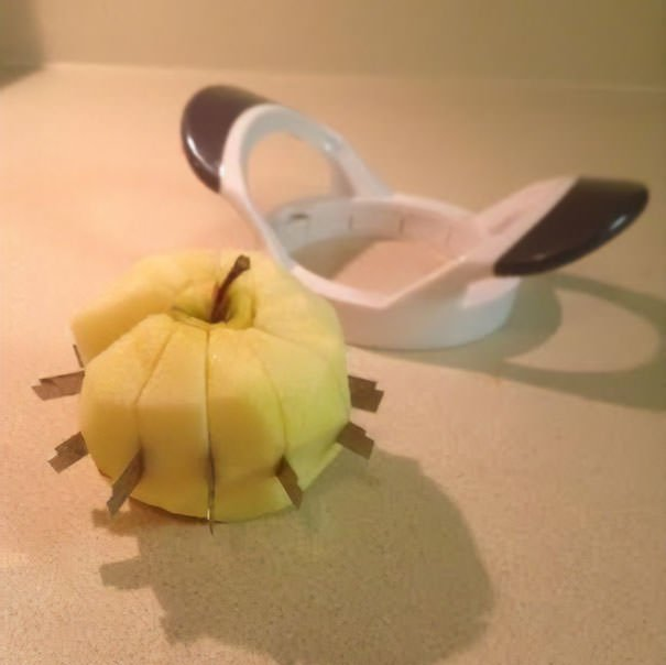 I Broke My Apple Slicer And Accidentally Created A Very Dangerous Apple