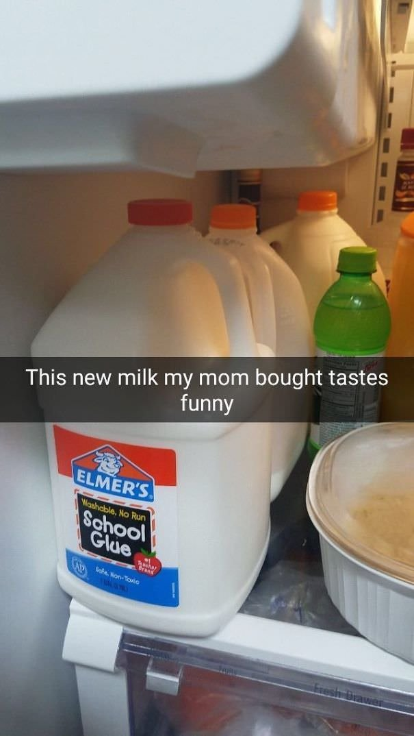 The New Milk My Mom Bought Tastes Funny
