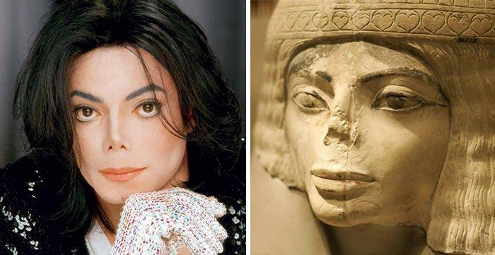 Michael Jackson Looks Like This Egyptian Statue