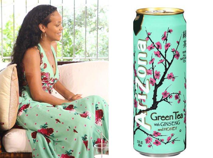 Rihanna And Arizona Green Tea