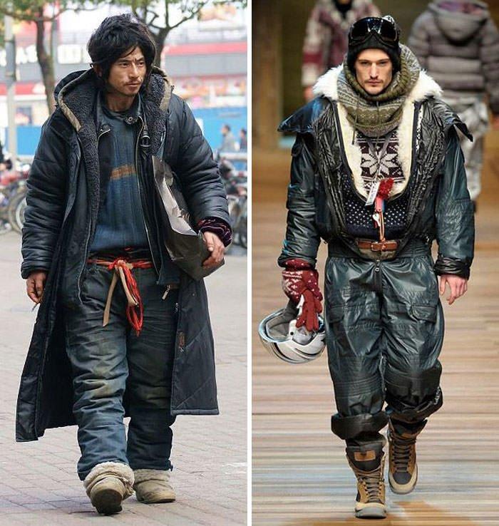 Homeless Guy Looks Like High Fashion Model