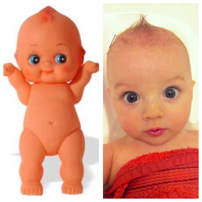 Baby Looks Like Kewpie Doll