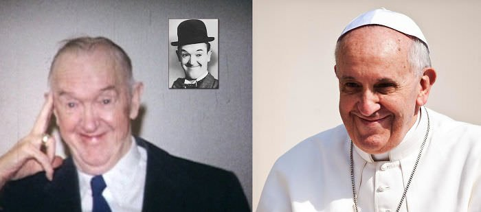 Stan Laurel And Pope Francis