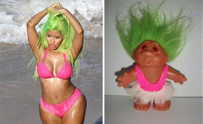 Nicky Minaj = Troll Doll