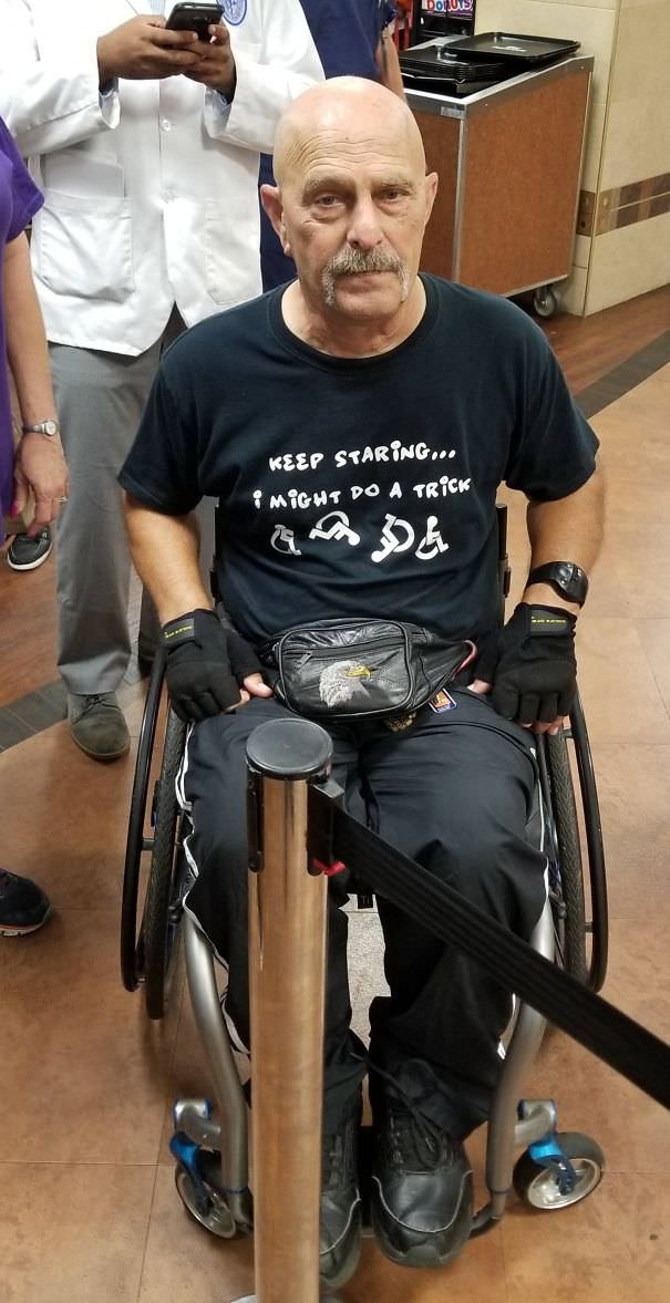 Was At The VA Hospital Today When I Ran Into This Guy And His Shirt