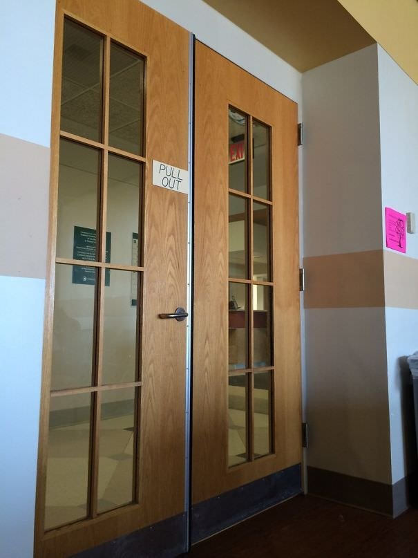Sitting In The Maternity Waiting Room At Christiana Hospital In Delaware. The Door Is A Little Late With It