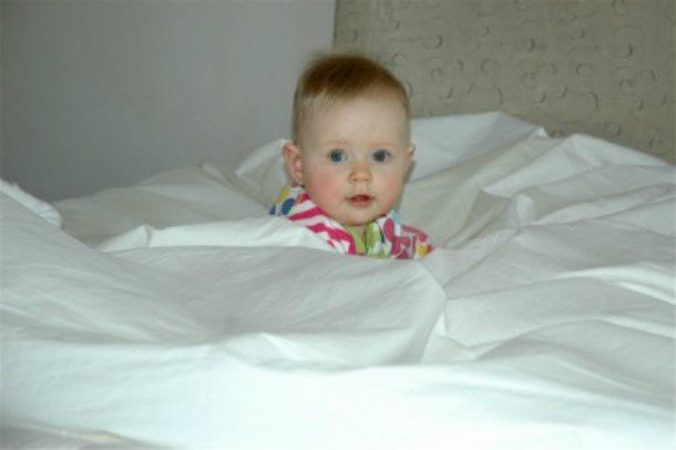 baby in bed