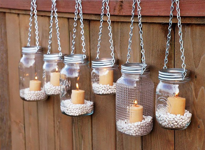 Add Some Mood Lighting To Your Backyard With Mason Jars