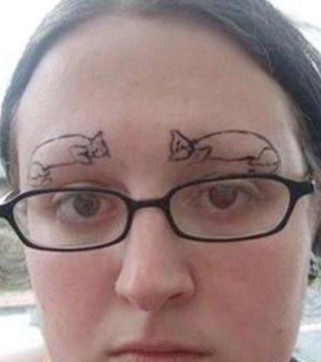 20 fotos de mulheres que acabaram com as suas sobrancelhas