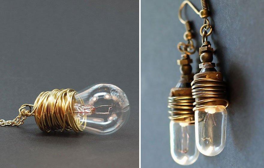 Steampunk Light Bulb Jewelry