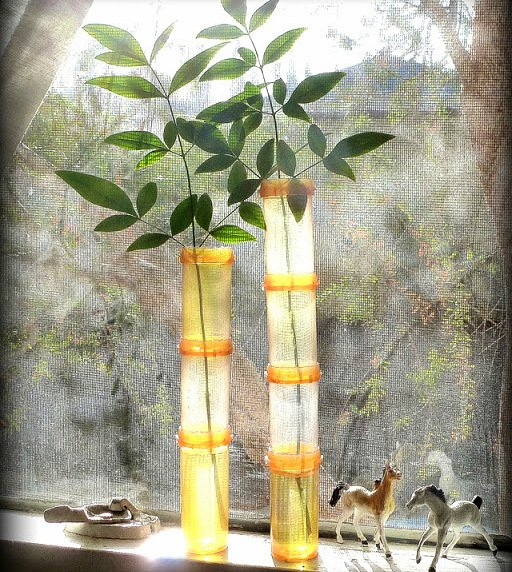 pill-bottle-bamboo-vase