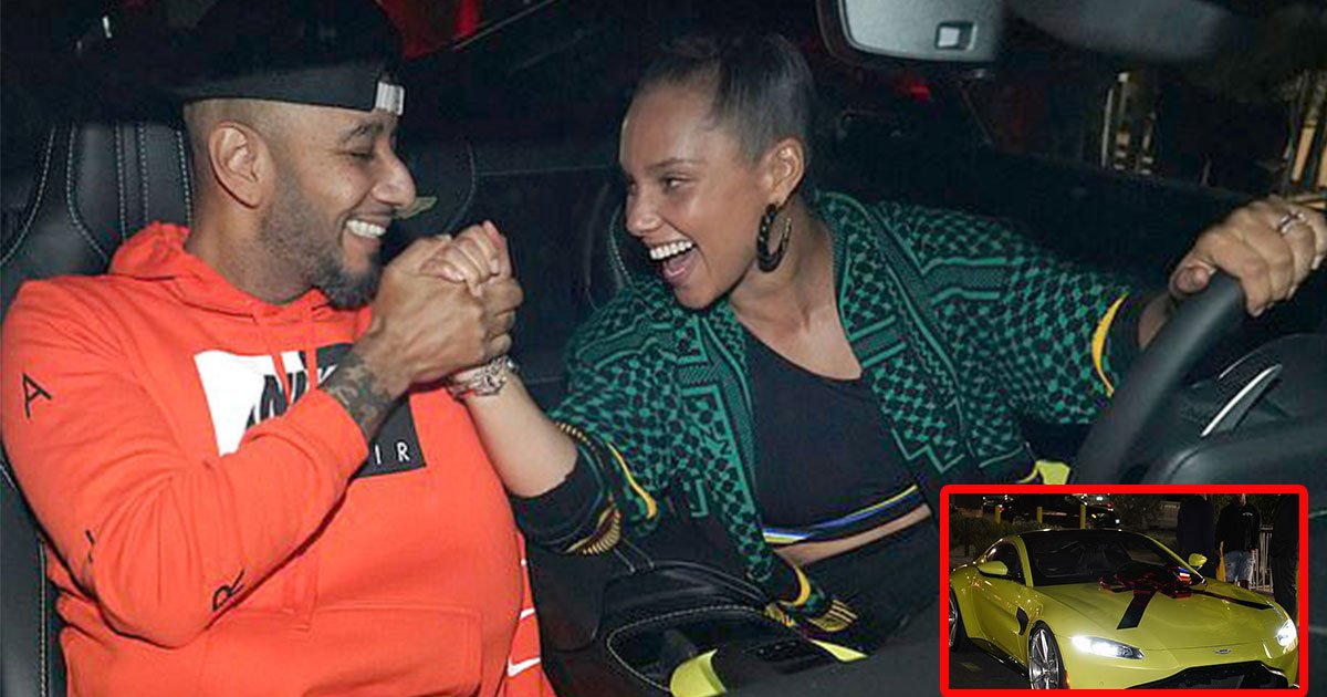 alicia keys surprises her husband swizz beatz with 150k aston martin on his 40th birthday.jpg?resize=300,169 - Alicia Keys Surprises Her Husband Swizz Beatz With $150k Aston Martin On His 40th Birthday