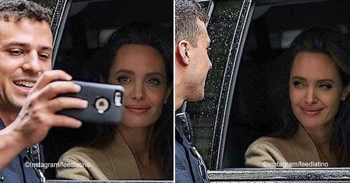 angelinajolie.jpg?resize=300,169 - Un policía se tomó una selfie con Angelina Jolie, la fotografía ha impactado en las redes sociales