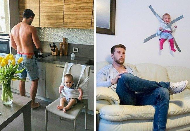 baby 7.jpg?resize=1200,630 - 18 Provas de que deixar as crianças com o pai é uma ótima ideia