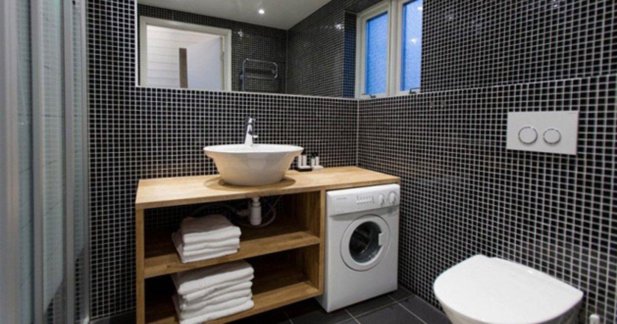 banospequenos.jpg?resize=1200,630 - 12 Soluciones de diseño para convertir un baño pequeño en uno espacioso