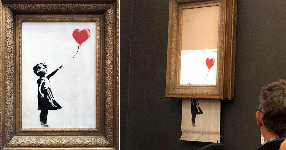 bensky.jpg?resize=1200,630 - Banksy revela como construiu dispositivo de autodestruição dentro de sua peça icônica para impedir de vende-la em leilão