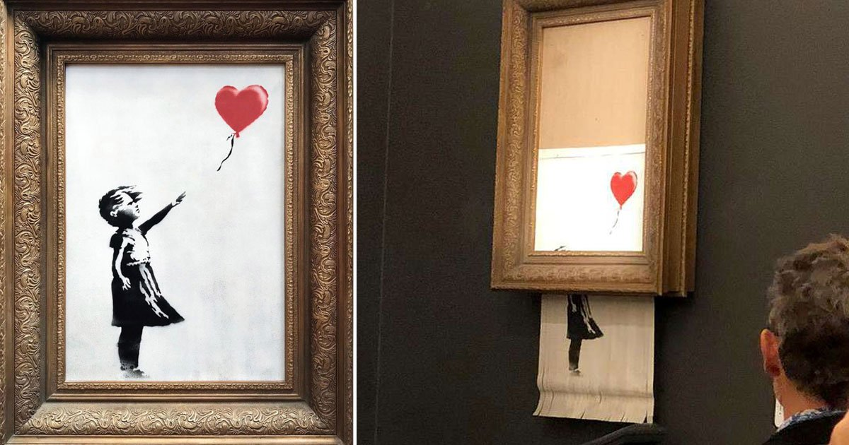 bensky.jpg?resize=300,169 - Banksy Revealed How He Built Self-Destruct Device Inside His Iconic Piece To Prevent It From Selling At Auction