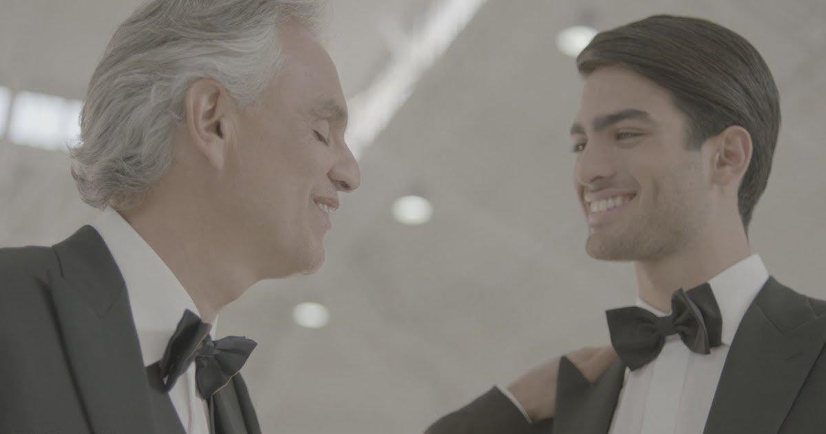 bpoteels.jpg?resize=412,232 - Andrea Bocelli hace por primera vez un dúo con su hijo Mateo en el video 'Fall on Me'