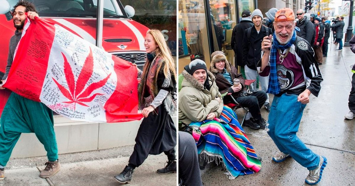 canada6.jpg?resize=636,358 - Canadians Smoke In The Streets To Celebrate First Day Of Legal Recreational Marijuana