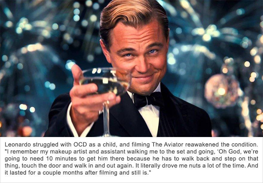 Leonardo DiCaprio, Obsessive Compulsive Disorder (OCD)