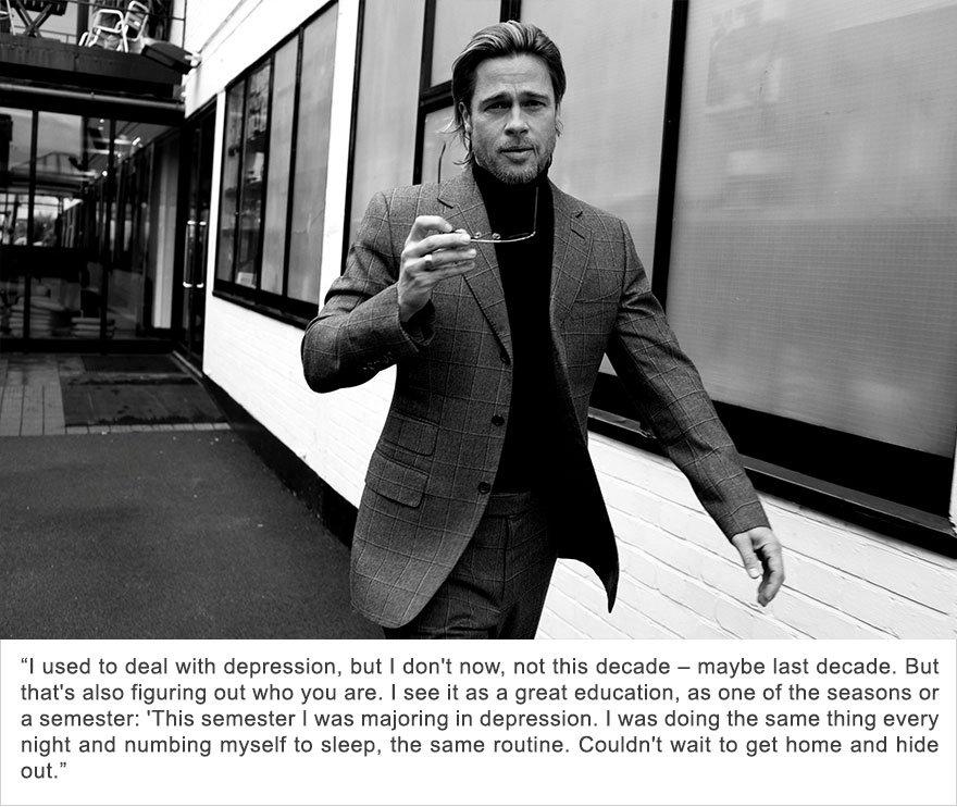 Brad Pitt, Depression