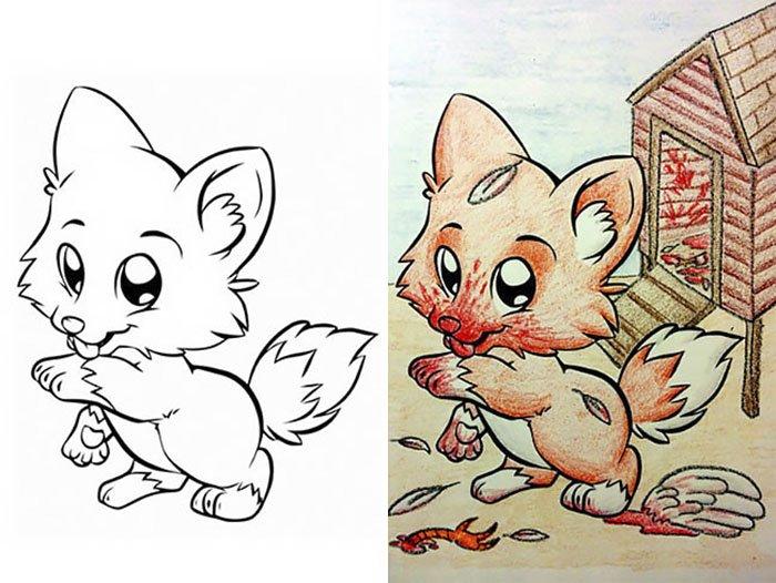 coloriages enfants adultes 6.jpg?resize=1200,630 - Des adultes remplissent des cahiers de coloriage pour enfants, et le résultat n'est pas à mettre entre toutes les mains.