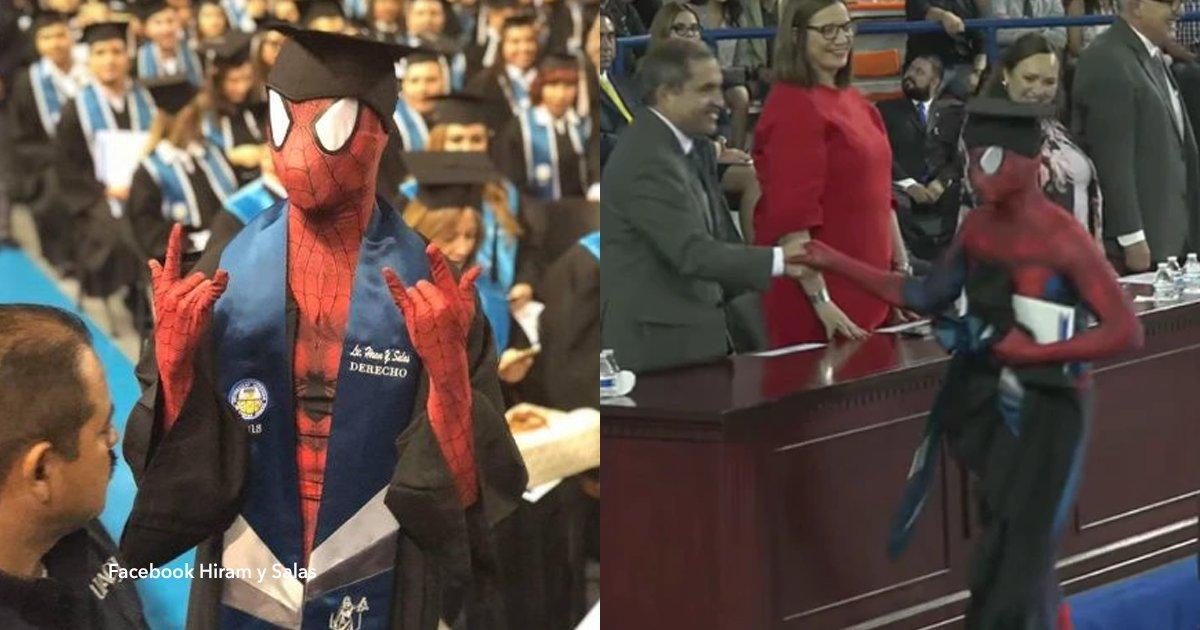 """cover22 5.png?resize=648,365 - Un joven cumple su sueño de recibirse de abogado vestido de """"Spiderman"""""""