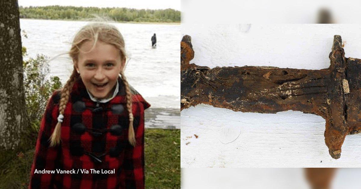 """cover22 6.png?resize=648,365 - En Suecia, una niña encontró una espada de la era pre vikinga de 1500 años en un lago y la nombraron """"reina de Suecia"""""""