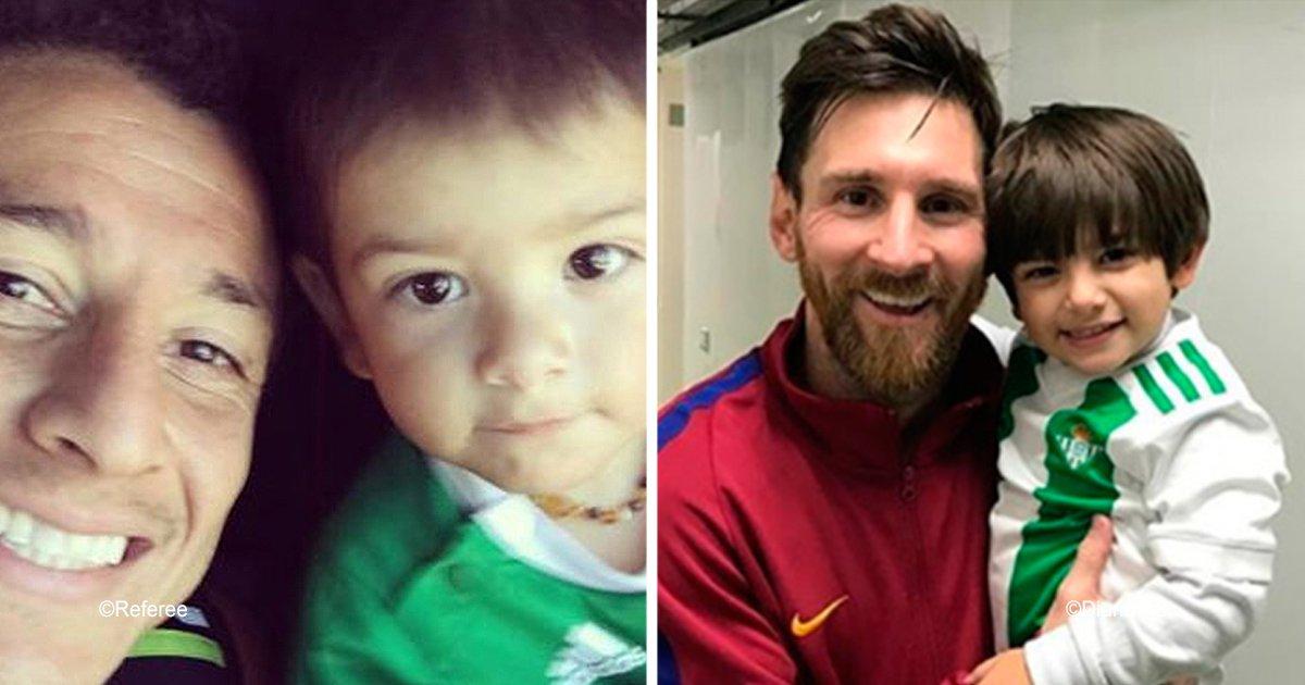 diff 5.jpg?resize=300,169 - Messi hizo realidad el sueño de un pequeño de 2 años, causó furor en las redes sociales