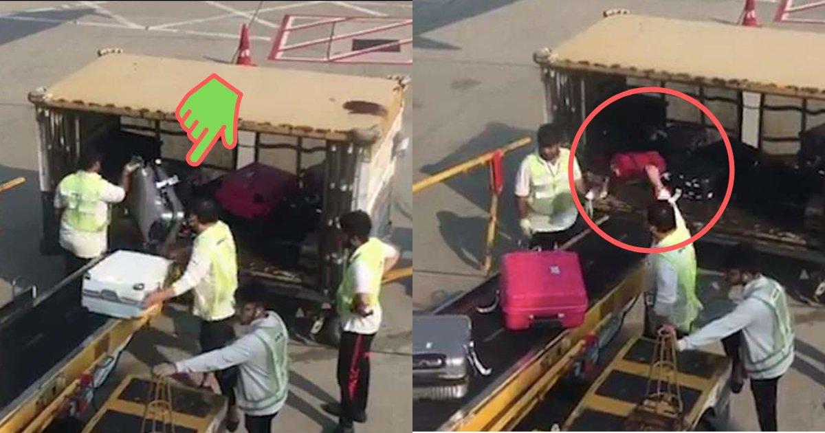 divya1.jpg?resize=412,232 - On voit des bagagistes négligents maltraiter des valises à l'aéroport