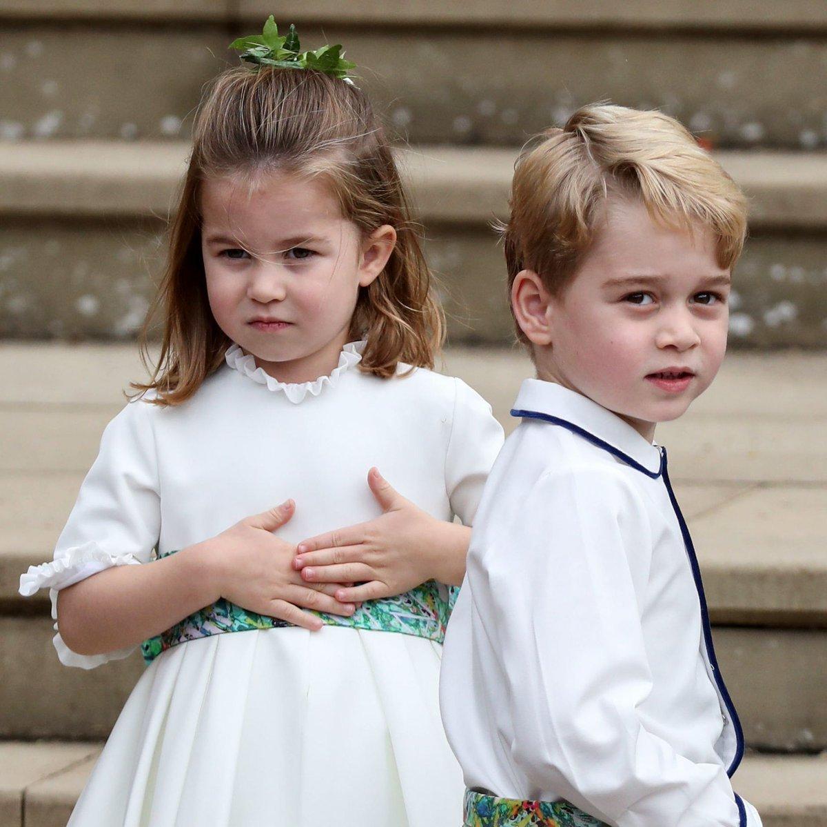 dptosogu0aeki2g.jpg?resize=1200,630 - George e Charlotte roubam a cena com momentos FOFOS durante casamento da princesa Eugenie: Confira!