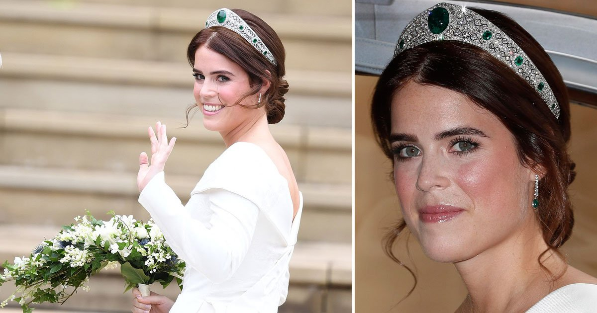 eugenie.jpg?resize=636,358 - Princess Eugenie Ditches The Veil And Wears A Tiara Instead, Lent To Her By The Queen For Her Big Day