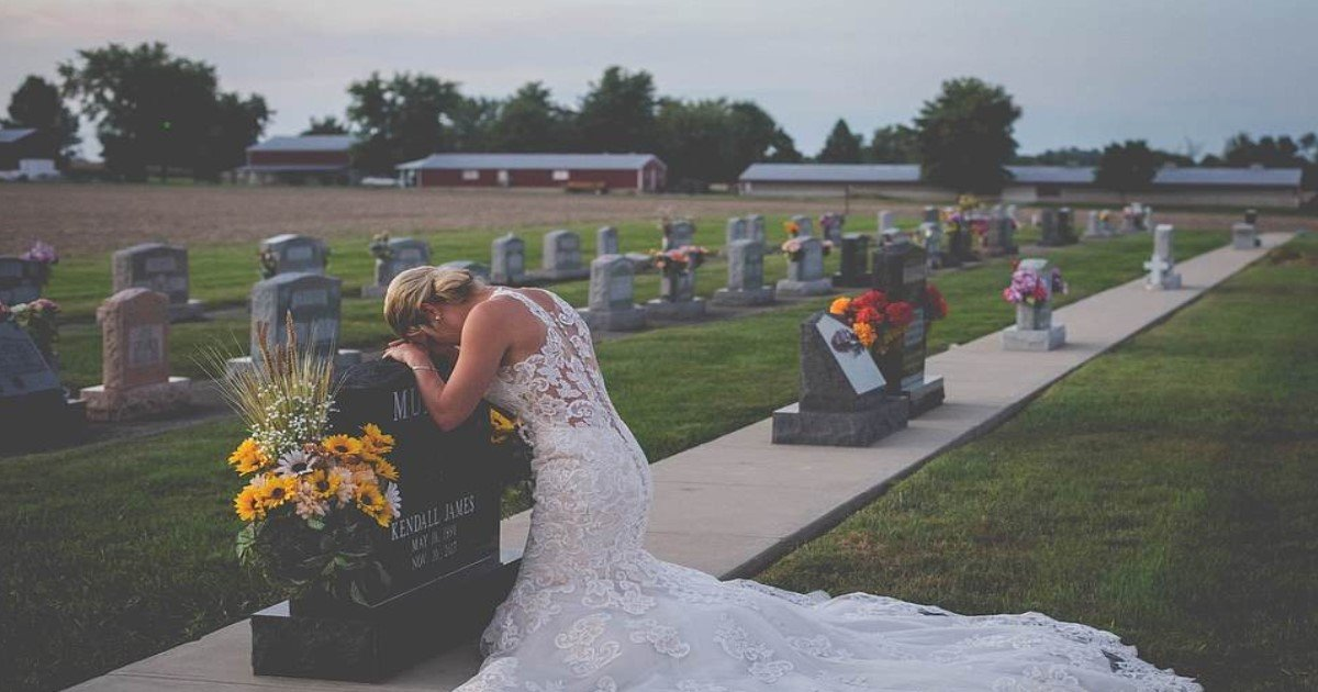 featured image 26.jpg?resize=412,232 - Bride Wore Wedding Dress To Fiance's Grave On The Day They Were Supposed To Get Married
