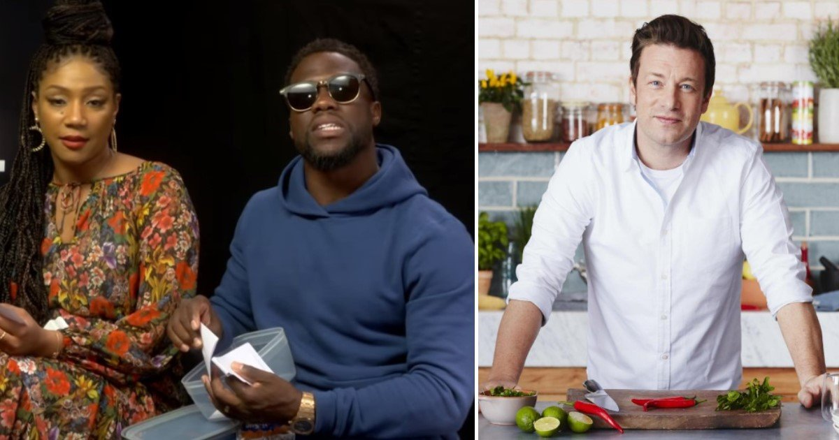 """featured image 8.jpg?resize=636,358 - """"I'm Gonna Kill Him,"""" Kevin Hart Reveals How He'll Stop Jamie Oliver's Quest For Healthy Food"""