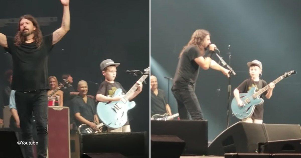 foo.jpg?resize=1200,630 - Dave Grohl invita a un niño de 10 años a tocar una canción de Metallica, y lo hace increíble