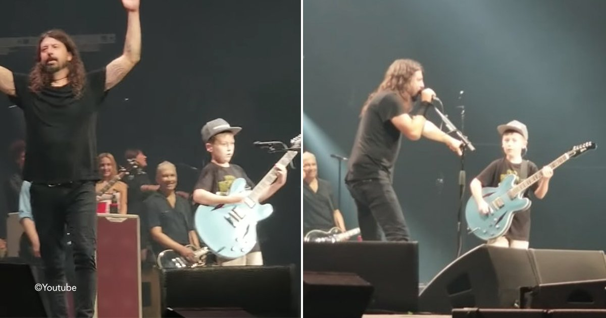 foo.jpg?resize=412,232 - Dave Grohl invita a un niño de 10 años a tocar una canción de Metallica, y lo hace increíble