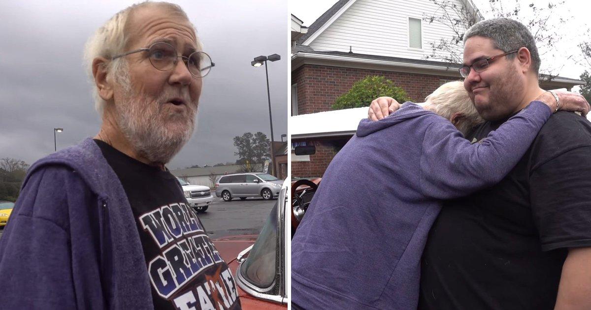 gag 1.jpg?resize=636,358 - Este vovô bravo recebe seu amado carro de volta, vários anos depois que foi vendido por sua irmã e namorado