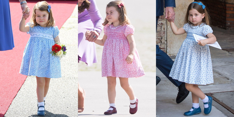 hbz princess charlotte dresses 1533313812.jpg?resize=636,358 - Descubra aqui a razão pela qual a princesa Charlotte sempre usa vestidos parecidos