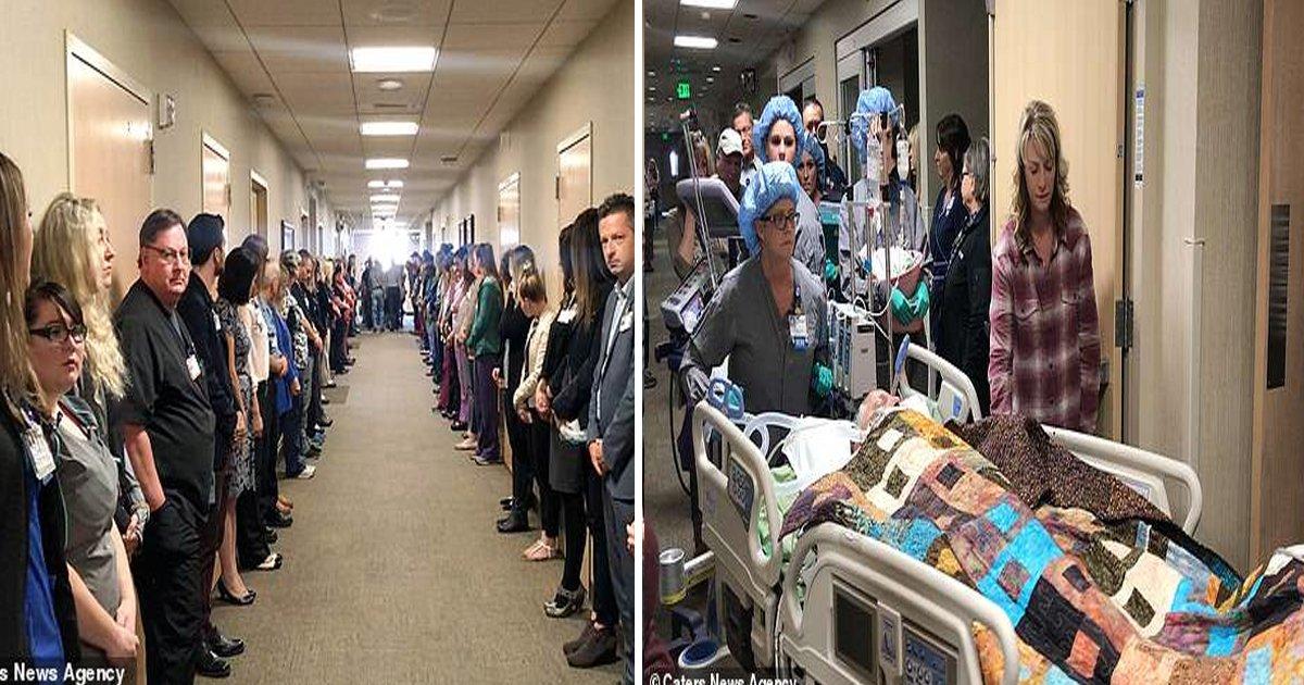 """hy.jpg?resize=412,232 - Une vidéo touchante montre un homme de 53 ans se faisant """"promener dans le respect"""" par le personnel de l'hôpital après avoir décidé de faire don de ses organes après son décès"""