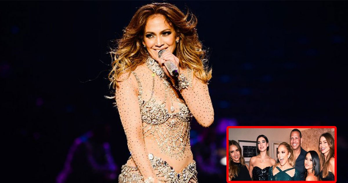 jennifer lopez parties with top female stars and her boyfriend alex rodriguez at backstage during her all i have concert.jpg?resize=636,358 - Jennifer Lopez Parties With Top Female Stars And Her Boyfriend Alex Rodriguez At Backstage During Her All I Have Concert