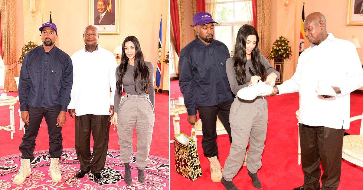 kanye kim uganda.jpg?resize=412,232 - Uganda's President Asks Kim Kardashian, 'What Is Your Job?' During Her Visit To Uganda With Her Husband Kanye West